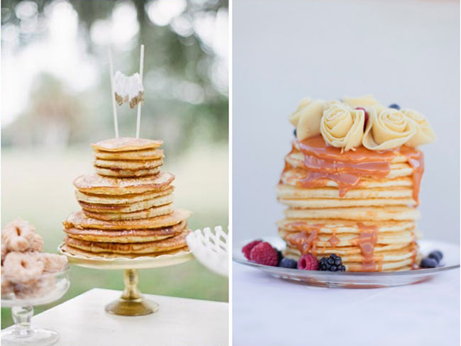 DIY pancake wedding cake Ideas