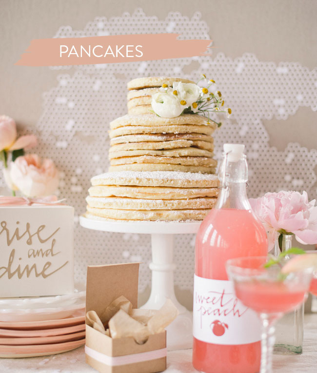 DIY Breakfast Pancakes as Wedding cake