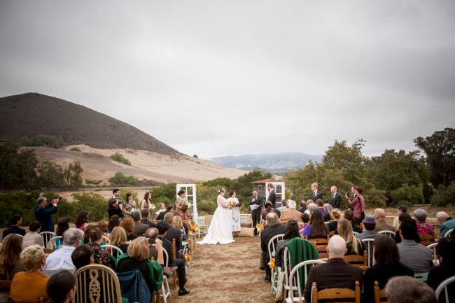 outdoor wedding ceremony at Flying Caballos Guest Ranch