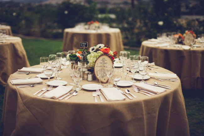 outdoor table settings at Flying Caballos Guest Ranch