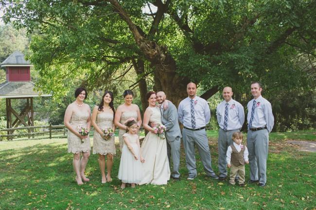 Outdoor wedding party