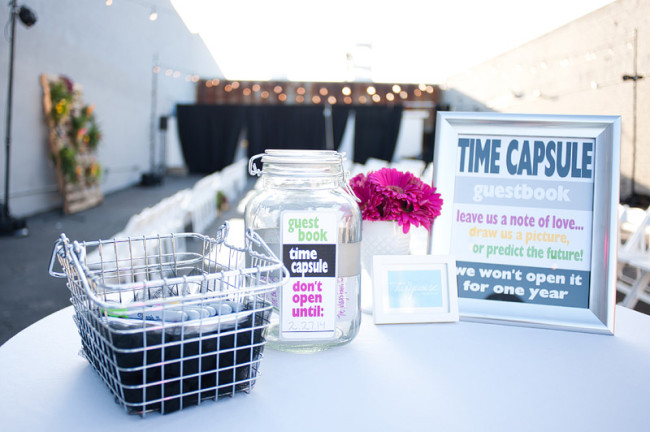 guest book time capsule jar