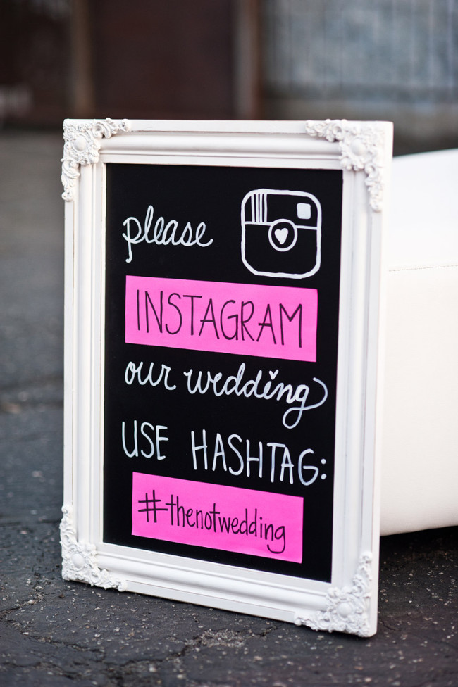 framed instagram photo for #thenotwedding