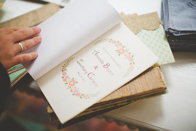 Rainy spring wedding program