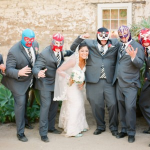 Mexi-Italian wedding with luchador themed items