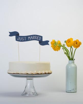 Cake Banner - Common Phrases - Wedding Cake Topper