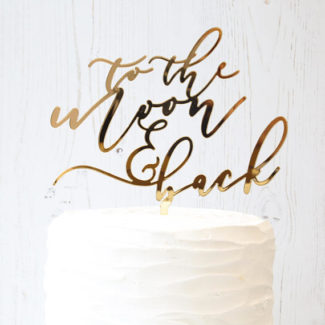 wedding cake topper – to the moon and back
