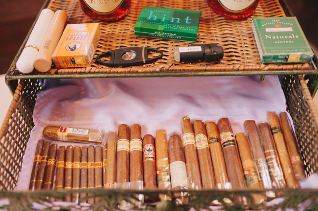 different types of cigars in a basket