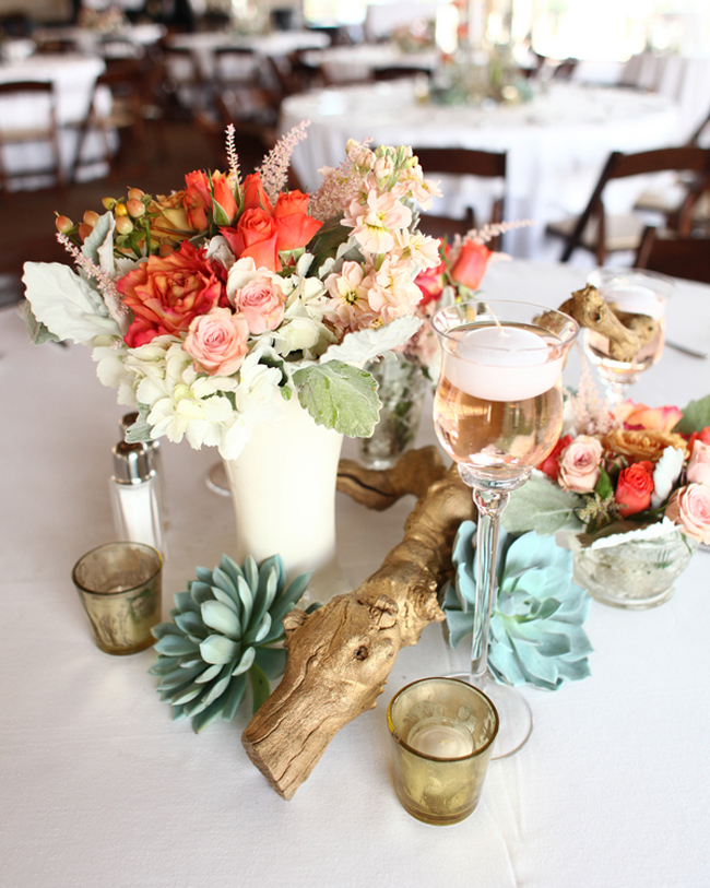 Driftwood And Succulents Wedding