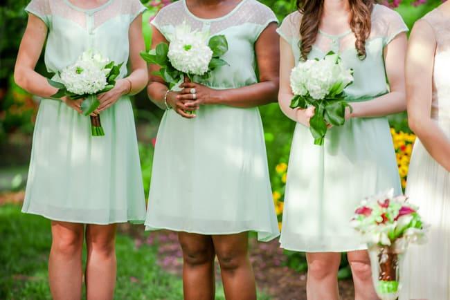 rustic backyard wedding bridesmaids