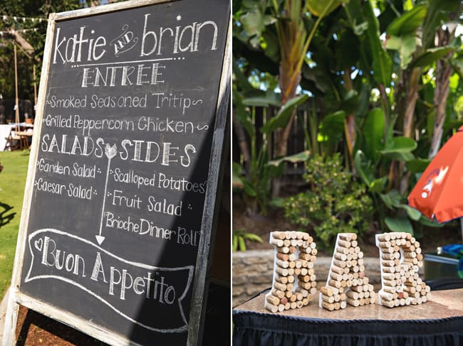 letters made of wine corks spell B-A-R