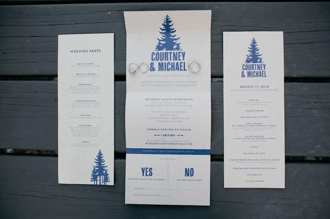 Wedding Invitations Portland Oregon: Urban Forest Wedding In Portland, Oregon