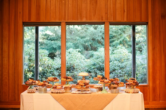 World Forestry Center wedding dessert table