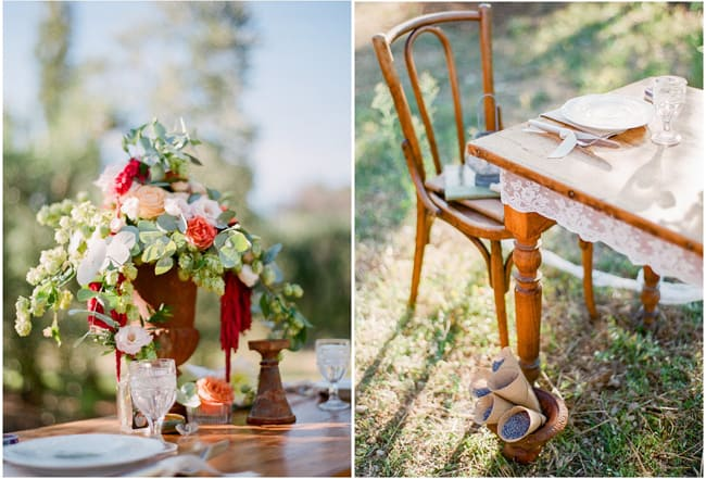 styled floral centerpiece