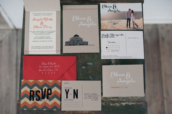 custom rustic wedding invites from Flor Amarilla