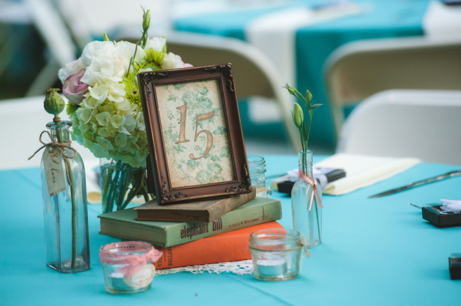 Tiffany Blue Wedding Centrepieces