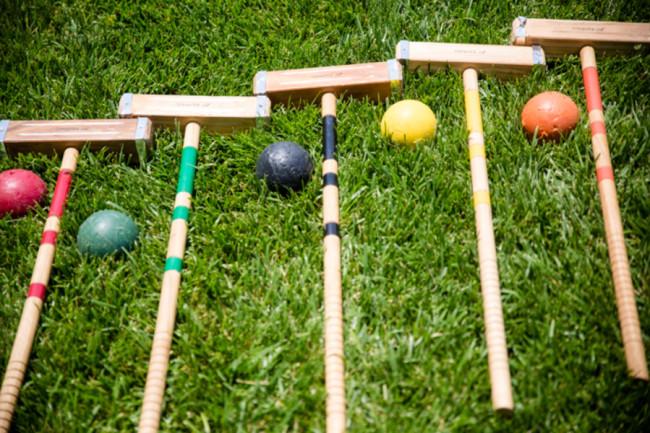 croquet mallets and balls