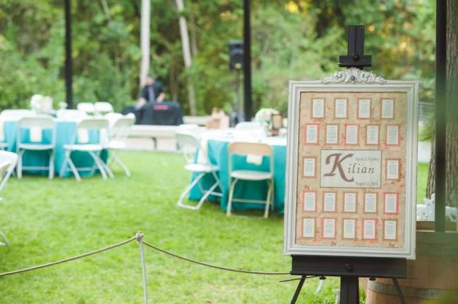 Tiffany Blue Wedding Table seating chart