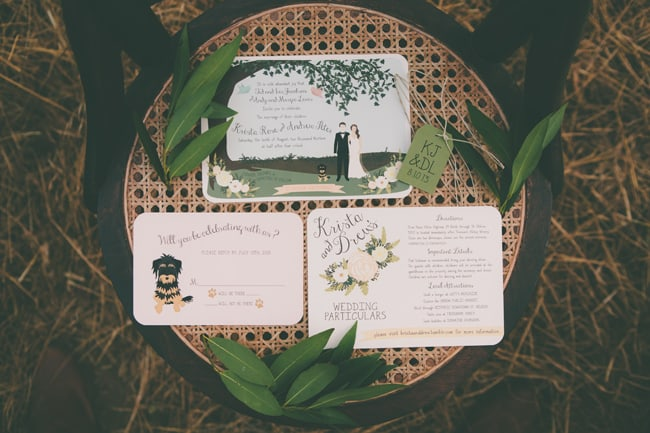 custom designed cartoon wedding stationery