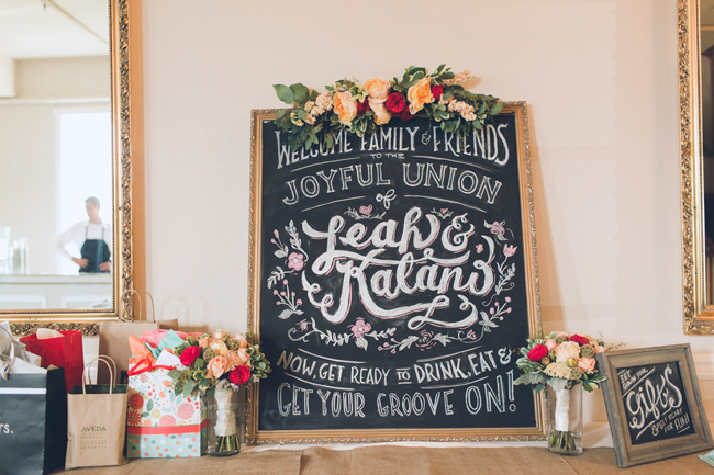 Weding chalk board