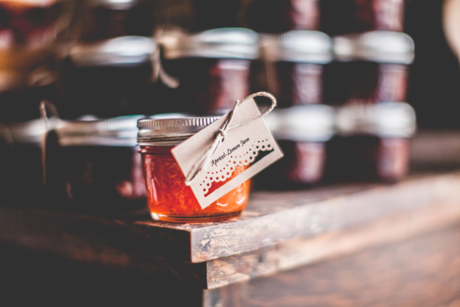 Apricot Jam wedding favor