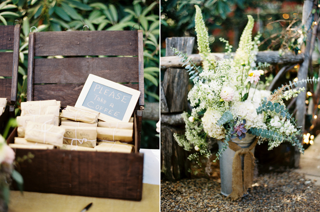 Wedding favors, Coffee, wooden crate