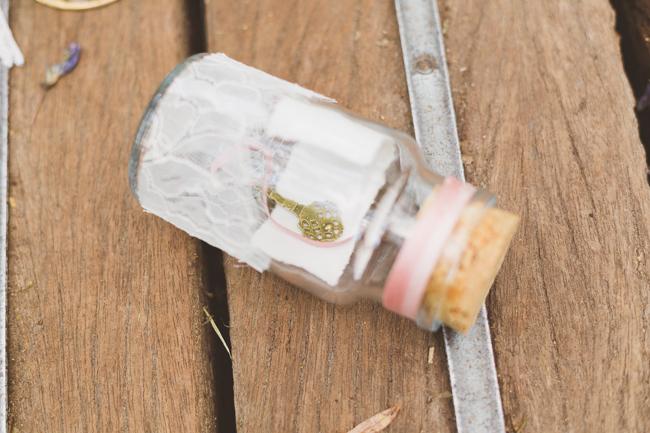 Vintage key in a bottle