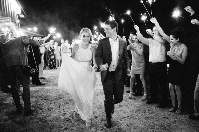 Bride and Groom leaving the wedding, Sparklers