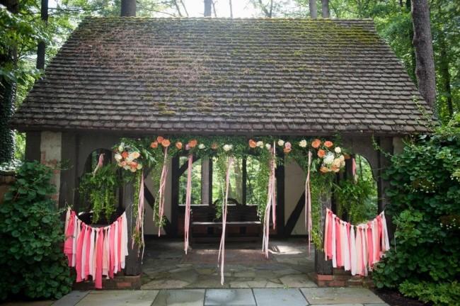 Wedding ceremony alter.