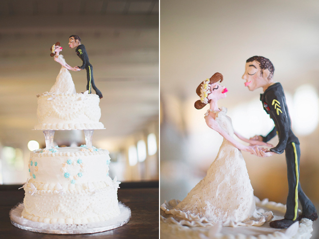 caricature cake topper