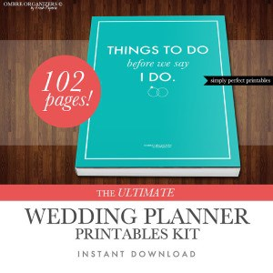 wedding planning printable kit