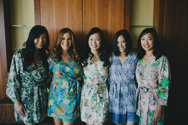bridal party in PJs
