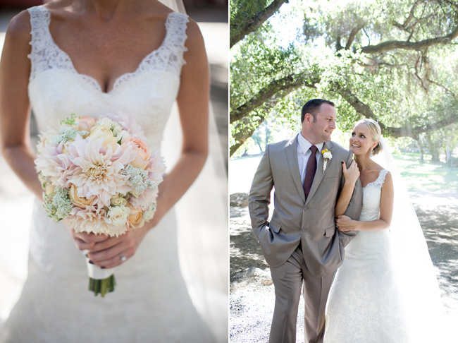 bridal bouquet and bride groom walking arm in arm