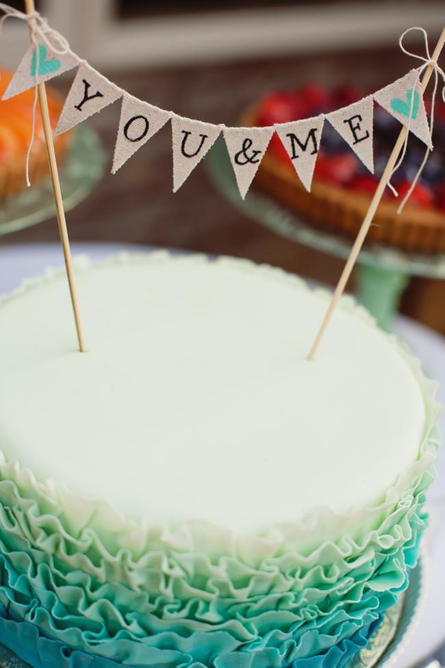 handmade bunting banner cake topper