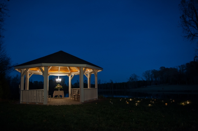 Gazebo for evening styled shoot