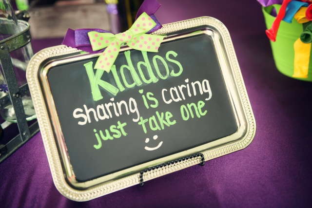 "chalkboard sign with ""sharing is caring, just take one"""