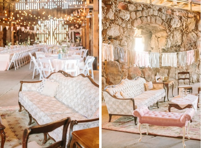 Couches in wedding decor