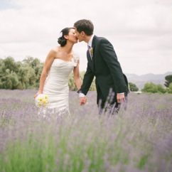 Lavender Field Wedding