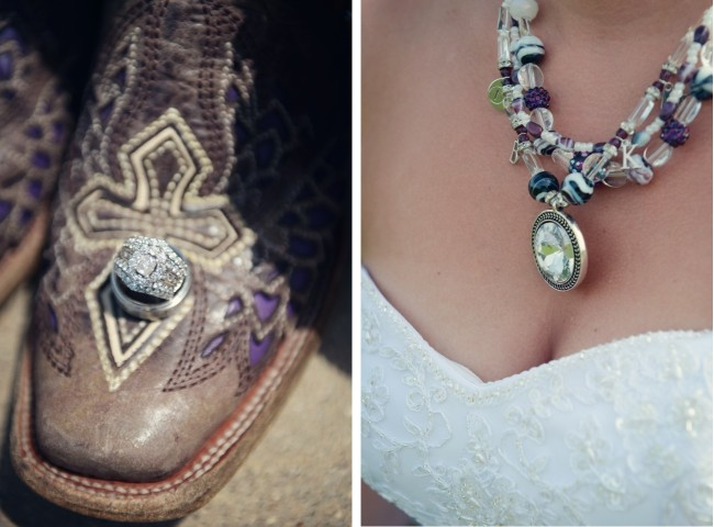 Wedding neclace and boots