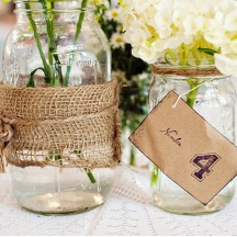 Wedding with Mason Jar Details