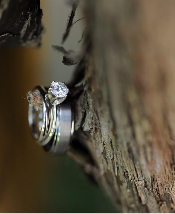Wedding Rings on tree nub