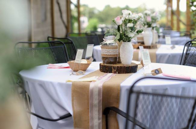 Rustic Winery Wedding Table Setting