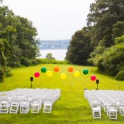 Backyard Wedding – Ballon Ceremony Backdrop