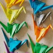 Colorful Paper Crane Wedding