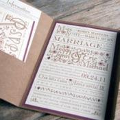 DIY Wedding with unique invitations