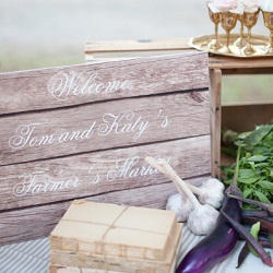 Farmers market wedding