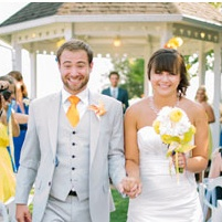 Fun & Colorful Outdoor Wedding