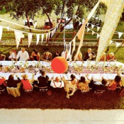 Red and White 1950's Theme Wedding in Italy