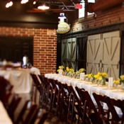 Rustic Indoor Wedding with Billy Balls