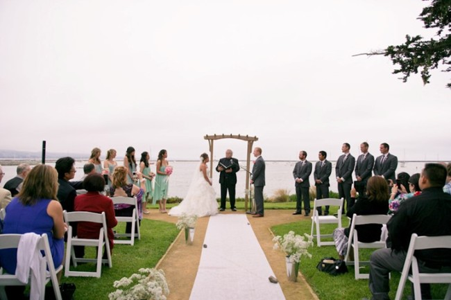 Wedding ceremony on Half moon bay California